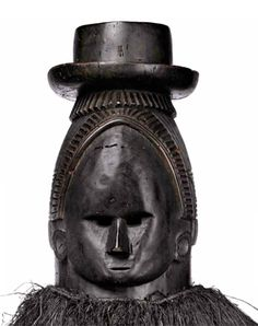 British Museum - Sowei mask. Relates to Bundu mask. Sande Society, Mende peoples (West African forests of Sierra Leone and Liberia). 19th to 20th century C.E. Wood, cloth, and fiber.