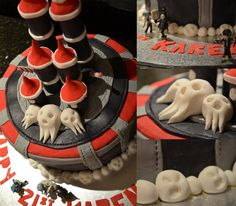 Soul Eater Cake by kalgeo.deviantart.com    My 21st Birthday Cake that I made. :)