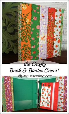 How to make a fabric binder cover, create this cute Craft Book and Binder Cover with this free tutorial from It's Just Sewing