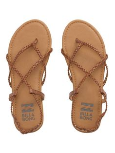 3993a4eb6 Billabong - Crossing Over Braided Strappy Sandals
