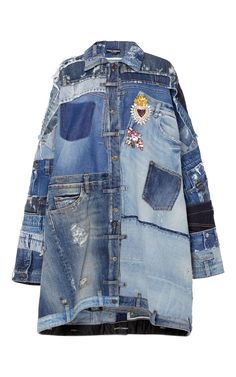 Patchwork Denim Jacket by DOLCE & GABBANA for Preorder on Moda Operandi
