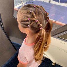 Cute Toddler Hairstyles, Girls Hairdos, Cute Little Girl Hairstyles, Cute Girls Hairstyles, Princess Hairstyles, Crazy Hair Days, Hair Dos, Nails, Makeup