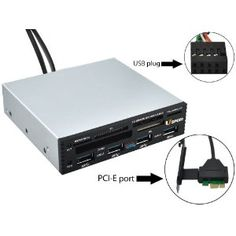 Uspeed PCI-E to USB 3.0 Internal Combo/ USB 3.0 Hub & USB 2.0 All-in-1 Card Reader for Windows XP/ Vista/ 7 - Silver [one step to upgrade your PC to USB3.0] (Electronics)  Visit : http://infotechno.web.id/bajigur.php?p=B005LYLJ0A  #kingston