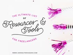 50+ tools, apps, and resources for freelancers and creative business owners.