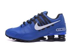 Perfect Nike Shox NZ Shox Avenue Lather Royal Blue Black White Men's Athletic Running Shoes - Nike Shox Nz, Mens Nike Shox, Nike Shox For Women, Nike Shox Shoes, Mens Nike Air, Shoes Sneakers, Nike Air Max, Swag, Black And White Man