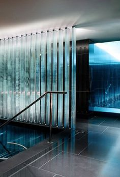 Espa pool at the Corinthia Hotel in London. Luxuryprivatelistings.com #Luxury #Contemporary #Pool