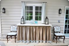 Skirted Table {Porch Projects}