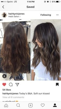 Ideas hair color ideas for brunettes babylights salons Bronde Hair, Balayage Hair, Babylights Brunette, Brunette Hair, Long Brunette, Brunette Fall Hair Color, Sunkissed Hair Brunette, Long Dark Hair, Hair Color And Cut