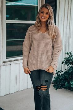 Play This On Sweater: Mocha - Off the Racks Boutique