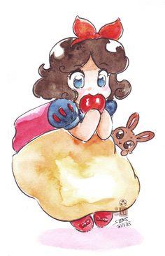 Chibi Snow white by ~In-Sine