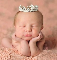 Enchanted Shimmer Sophia Rhinestone Crown with Swarovski Crystals