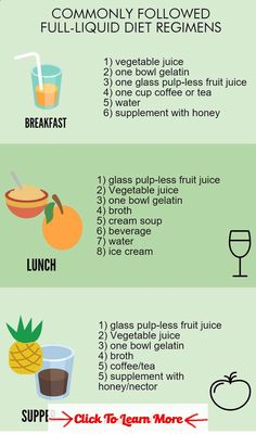 home liquid diet recipes
