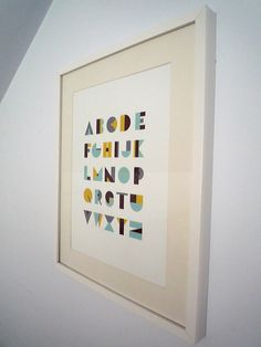 Mod alphabet poster by Olivia Raufman, via Behance