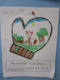 "Adorable free writing activity to accompany Jan Brett's ""The Mitten""."