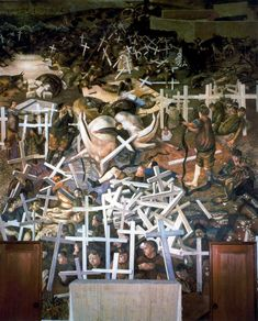 Stanley Spencer (British 1891–1959) The Resurrection of the Soldiers, 1929. Sandham Memorial Chapel, Burghclere, UK.