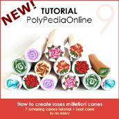 PolyPediaOnline - Polymer Clay Millefiori CanesTutorials - Roses Millefiori Canes