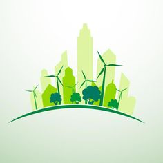 Green city concept logo vector - The Concept of the Eco-city Arquitectura Logo, Carta Logo, Clover Logo, Energy Smoothies, Energy Drinks, Eco City, Natural Ecosystem, Alternative Energy Sources, City Icon