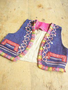 Colorful Vintage Ethnic Child's Vest Rick Rack by VintageZipper, $15.00