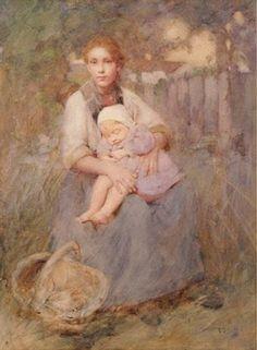 Después de un largo día en Los Meadows | Acuarela Autor: William Lee Hankey (1869-1950) Fehca: 1904 Ubicación: Christchurch Art Gallery Te Puna o Waiwhetu, Nueva Zelanda