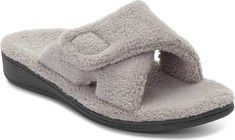 Vionic Women's Indulge Relax Slipper - Ladies Comfortable Cozy Adjustable House Slippers with Concealed Orthotic Arch Support Light Grey 8 Medium US Best Slippers, Summer Slippers, Fashion Models, Slippers For Plantar Fasciitis, Supportive Sandals, Slippers With Arch Support, Nails Polish, Bedroom Slippers, Womens Flip Flops