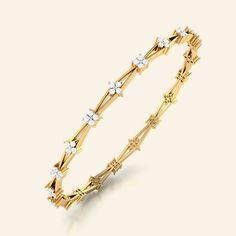 anaisha gold diamond bangle