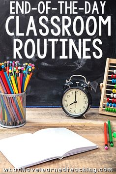 How do you end your day in the classroom? Is it chaos or calm? Do students pack up, pick up trash and get ready to go home? Do you follow a procedure or is it hectic and chaos? Here are 25 ideas and suggestions on how to end your school day and still hold students accountable for their behavior. #endofthedayprocedures Clean Classroom, Classroom Routines, Classroom Management Strategies, Classroom Procedures, Middle School Classroom, Classroom Organization, Classroom Ideas, Class Management, Teaching Strategies