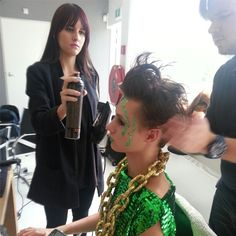 LOVE GETTING MY HAIR DONE... make-up & styling by JET VAN DIJK.