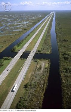 Alligator Alley Florida Everglades.