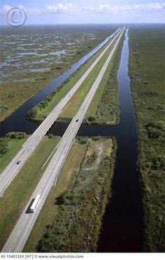 nostalgic: Driving through Alligator Alley on our way to Tampa. Top down, music blasting! (Naples to Miami, FL)
