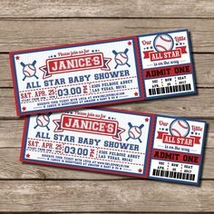 Baseball Ticket Pass BABY Shower Printable 2.5 x 7 inch Invitation, INSTANT DOWNLOAD, You Edit Yourself with Adobe Reader Ten (10) Personalized Felt Superhero Felt Masks - Superhero Birthday Party Favors! Pick Any Mixture!