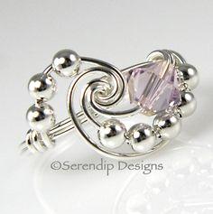 June Birthstone Ring Alexandrite Argentium by SerendipDesignsJewel, $26.00