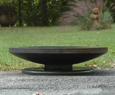 36 Firepit Shallow Low Rider Pedestal Base   Industrial