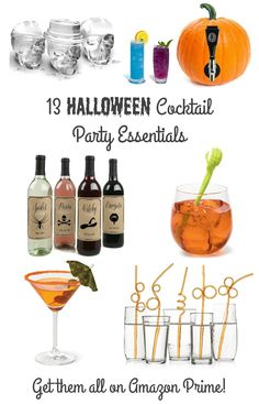Each of these 13 Essentials for Your Halloween Cocktail Party come in at under $20, & they are all available via Amazon Prime! #affiliate #cocktailparty #HalloweenParty