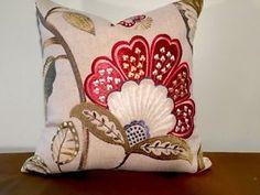 Scalamandre Willowood Embroidery Linen Viscose Pillow   eBay
