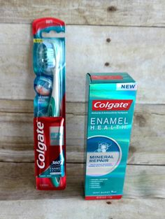 Colgate Enamel Health Mineral Repair Toothpaste and Toothbrush #sponsored review