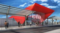 Chicago Transit Authority Shows Latest Design for New 95th Street Station...