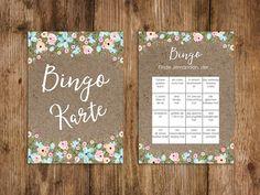 Gastgeschenke - 50 Bingokarte Hochzeit, Hochzeitsbingo Spiel - ein Designerstück von Nastami bei DaWanda