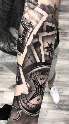 As melhores Tatuagens Masculinas no braço Best Sleeve Tattoos For Men Forearm Sleeve Tattoos, Best Sleeve Tattoos, Sleeve Tattoos For Women, Tattoo Sleeve Designs, Tattoo Designs Men, Calf Tattoo Men, Calf Sleeve Tattoo, Nautical Tattoo Sleeve, Mens Tattoos