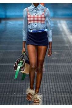 Prada - Striped Cotton Shirt - Blue - IT46