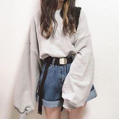 ideas with headbands hairstyle ideas hairstyle ideas ideas over 40 ideas for school hairstyle ideas easy hairstyle ideas ideas black Cute Casual Outfits, Retro Outfits, Grunge Outfits, Casual Korean Outfits, Chic Outfits, Kawaii Fashion, Cute Fashion, Fall Fashion, Cute Korean Fashion
