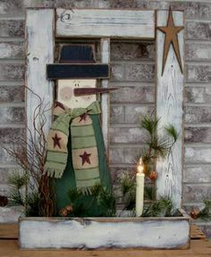 Antique Window Crafts | Old window ... too cute | Christmas Crafts