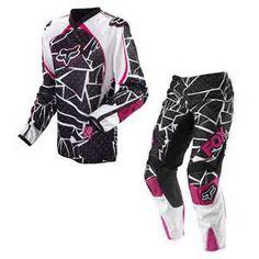 pink rinestonedirt bike riding gear ( Fox Racing )