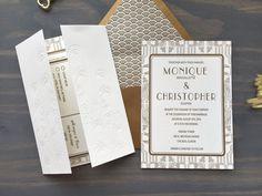 Wedding Suite, Our Wedding, Roaring 20s Wedding, Roaring Twenties, Luxury Wedding Invitations, Letterpress, Birthdays, Art Deco, Wedding Inspiration