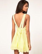 yellow chiffon dress asos.com