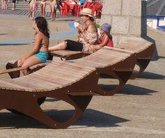 guyon bain de soleil bois mobilier urbain fécamp 4 (2) Urban Furniture, Street Furniture, Furniture Plans, Outdoor Furniture, Outdoor Decor, French Street, Software Online, Deck Chairs, Made In France