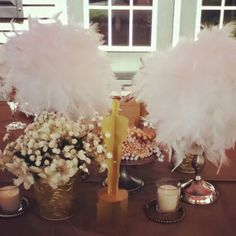 old hollywood prom dinner centerpiece { Shimmer & Shine }