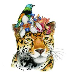Your place to buy and sell all things handmade Jaguar Colors, Tatoo Manga, Forest Habitat, Gcse Art Sketchbook, Jungle Cat, Bristol Board, Colorful Animals, Sketch Painting, Animal Faces