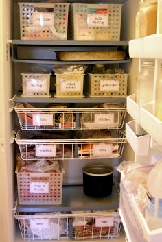 Organize your freezer . . . and fridge . . . and cupboards & cabinets.   No excuses that you (or they) can't find something.