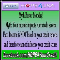 Want to learn more about the REAL way credit works? Stop getting bad information about how to improve your credit. Check out free, reliable credit tips from HOPE4USA credit experts here: http://www.hope4usa.com/credit-repair-news-charlotte-north-carolina/