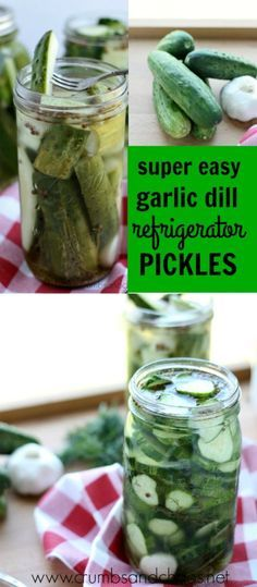 Easy Garlic Dill Refrigerator Pickles | Crumbs and Chaos